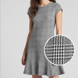 Gap | Plaid Fit and Flare Peplum Dress in Ponte